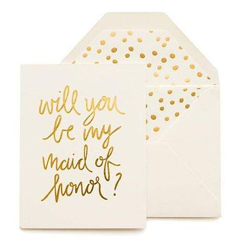 Playful Maid of Honor Card
