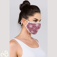 Ethnic Print Face Mask Top Quality Adult Unisex Cloth Mask - Adjustable Washable Anti-Dust Fashion Fast Shipping  Made in Korea