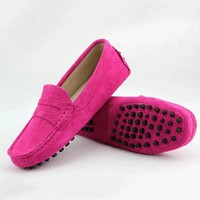 2017 Shoes Women 100% Genuine Leather Women Flat Shoes Casual Loafers Slip On Women's Flats Shoes Moccasins Lady Driving Shoes