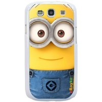 S3DCM-11W for Samsung Galaxy S3 S III SGH-I747 I9300 Minions Despicable Me Cartoon Snap-on Hard Case Back Cover With eBayke Logo