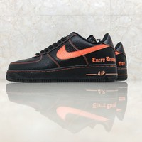 KUYOU Nike Air Force x Vlone Air Force 1 815771 991 black orange sneaker