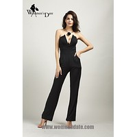 WomensDate 2016 Sexy Jumpsuits Backless Sleeveless Full Length Pants Autumn Women Jumpsuit Bodysuit Nightclub Rompers
