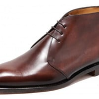 Handmade mens Chukka boot, Men brown real leather boots, Mens boot