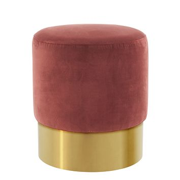 Red Gold Base Stool   Eichholtz Pall Mall