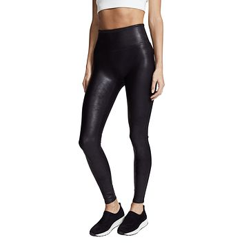Restocked Faux Leather Legging, Black