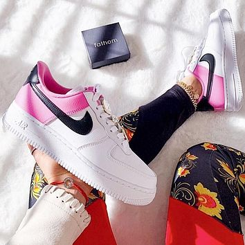 Nike Air Force AF1 Pink White Women's Wild Casual Low-Top Pink