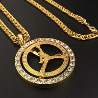 Fashion Hip Hop Jordan Necklace