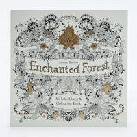 Enchanted Forest: An Inky Quest & Colouring Book - Urban Outfitters