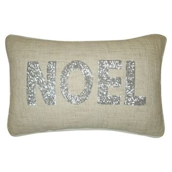 "Silver Sequin Noel Decorative Pillow 12""x18"" -Threshold™"