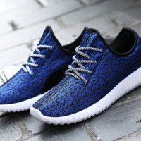 Blue Sports Shoes Mens Casual Canvas Lace Up Shoes