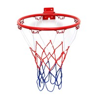 32cm 45cm Wall Mounted Hanging Basketball Goal Hoop Rim Net Metal Sporting Goods Netting indoor or outdoor for basketball game