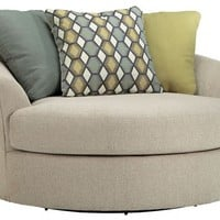 Casheral Linen Oversized Swivel Accent Chair, 8290121, Ashley Furniture