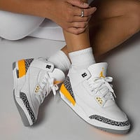Nike Air Jordan 3 Retro Laser Orange Basketball Shoes Sneakers