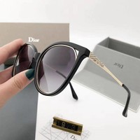 Dior thin face ladies partial light sunglasses trend anti-ultraviolet sunglasses retro glasses