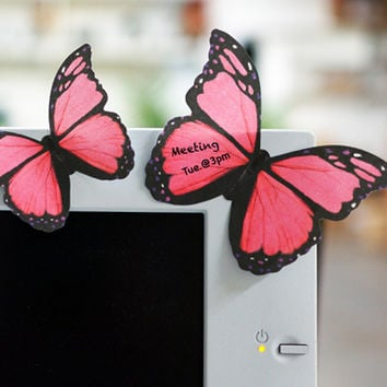 MOLLA SPACE - BUTTERFLY STICKY NOTES (PINK)