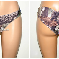 Camo Scrunch Bikini Bottom, Cheeky Hips Bikini Bottom, Brazilian Bikini Bottoms, Fully Lined Scrunch Butt Bikini Swimsuit