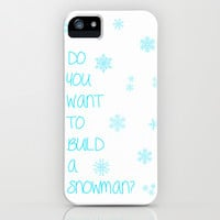 Frozen: Do You Want to Build a Snowman? iPhone & iPod Case by KrashDesignCo.