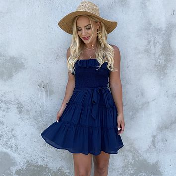Forever Yours Navy Shift Dress