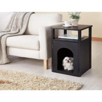 Pierre Home Matte Black Night Stand/ End Table | Overstock.com