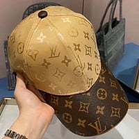 LV Louis Vuitton New Colorblock Printed Letter Cap Hat