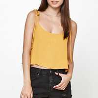 Honey Punch Shoulder Tie Cropped Tank Top at PacSun.com