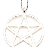 Fashionology Necklace Big Pentagram in Silver