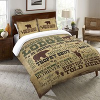 Welcome to the Lodge Duvet Cover