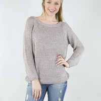 Sparkly Knit and Ribbon Sweater