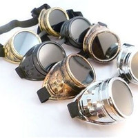 CYBER GOGGLES STEAMPUNK WELDING GOTH COSPLAY VINTAGE GOGGLES RUSTIC Hot New = 1946977668
