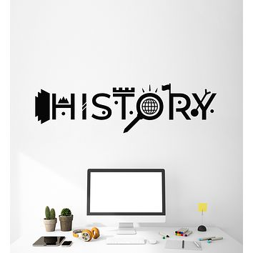 Vinyl Wall Decal History School Study Teen Room Classroom Decor Stickers Mural (g1740)