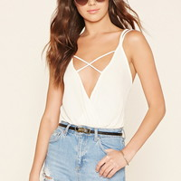 Strappy Surplice Bodysuit