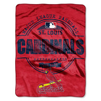St. Louis Cardinals MLB Micro Raschel Blanket (Structure Series) (45in x 60in)