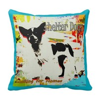 Shelter Dogs Looking for Homes Throw Pillows