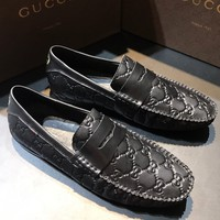 Gucci Men's Fashion Edgy Leather shoes