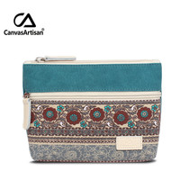 Top Quality Brand Womens Canvas Retro Floral Small Change Coin Purse Clutches Bag Female Key Card Pouch Money Coin Holder Wallet