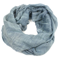 'Lucille' Infinity Scarf in Slate - The Faire Collection