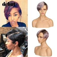 Short Human Hair Wigs 613 Blonde Lace Wig 100% Remy Brazilian Hair Wigs U Part Lace Wigs For Mom Hair Natural Short Wig