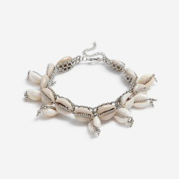**Beaded Conch Shell Choker | Topshop