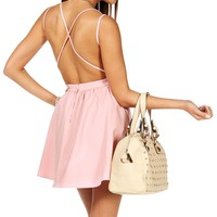 Sale-blush X-back Skater Dress