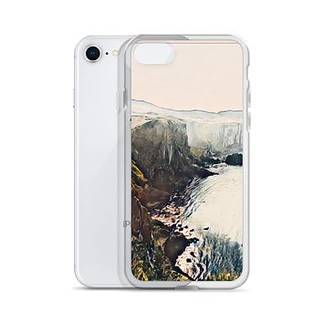 """Irish Cliffs"" Liquid Glitter Phone Case Travel Themed Gift"