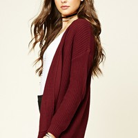 Open-Front Pocket Cardigan