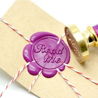 Personalized Read Me Gold Plated Wax Seal Stamp x 1