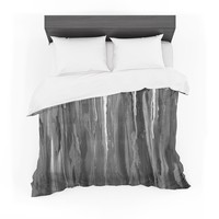 "Brienne Jepkema ""Daises"" Gray Flowers Featherweight Duvet Cover"