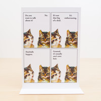 Want to Talk About It Kitty Cat Greeting Card