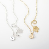 Long Layered Charm Necklace Collection