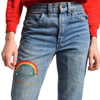 Vintage 1970s Embroidered Jeans