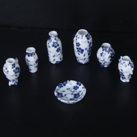 1/12 Dollhouse Miniatures Ceramics Porcelain Vase Blue Vine 7 piece-in Furniture Toys from Toys & Hobbies on Aliexpress.com | Alibaba Group