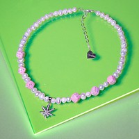 Pearl Lucky Mary Jane Necklace