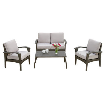 Tullip 4 Piece Deep Seating Group with Cushions