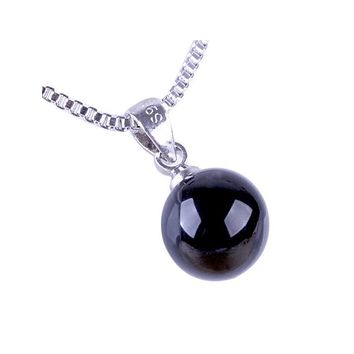 Natural Crystal Korean K Silver Color Pendant Necklace Women Fashion Water Drop Shape Necklace Jewelry